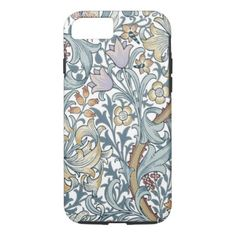 Golden Lily Vintage Floral Pattern William Morris iPhone 8/7 Case - pattern sample design template diy cyo customize