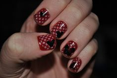 my Minnie Mouse manicure - click through for details