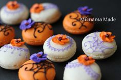 Halloween macaroon (This is a blog by a Japanese mom, and even with Google Translate it was nearly impossible to understand. The pictures and ideas are wonderful though, worth a look.) @Donna Kellner