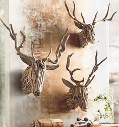 Roost Driftwood Deer Head - 3 Sizes