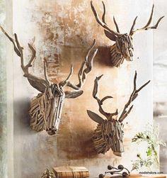 Roost Driftwood Deer Head - 3 Sizes