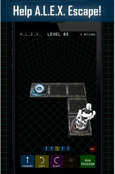 A.L.E.X iOS App: the simplicity of Beebots but with a look and feel which would appeal to older learners.  Program an astronaut to reach a teleporter. 25 free levels and create your own levels.