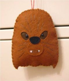 Speechless due to over-awesomeness. felt Christmas tree holiday hanging ornament by nicolaluke on Etsy, $7.00