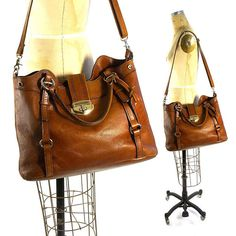 Large Leather Tote Vintage 90s Brown Distressed Leather Shoulder Bag Boho  Purse with Long Crossbody Strap   Leather Top Handles e2b7b291489c0