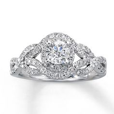 991166606 - Diamond Engagement Ring 1 ct tw Round-cut 14K White Gold
