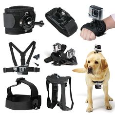 >> Click to Buy << Action Camera Accessories for Gopro 5 4 3 SJ5000 SJ4000 Xiaomi yi Camera Accessories kit 6-in-1 Set Chest Belt Head Mount Strap  #Affiliate