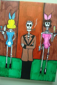 Hugh Hefner and his Bunnies Artist: Grant T Smith