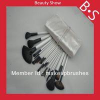 20pcs profesionales de gama alta de cepillo del maquillaje / kit , Belleza / Mejor Blanco de plata de cepillo cosmético , Excelente bolsa de cuero