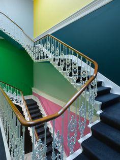 Color descending a staircase