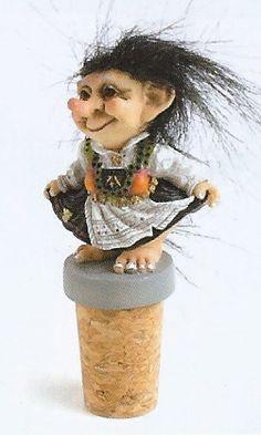 Troll Gifts from Norway - Dancing Troll Girl Bottle Cork