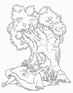 Alice 18 coloring page. Do you like this Alice 18 coloring page? There are many others in Alice in Wonderland coloring pages. You will love to color a . Tree Coloring Page, Cool Coloring Pages, Disney Coloring Pages, Free Printable Coloring Pages, Free Coloring, Coloring Pages For Kids, Coloring Sheets, Coloring Books, Kids Coloring