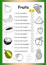 Copy Worksheet In Excel Pdf Kids Pages  Fruits  Fill In   English For Children  Pinterest  Tally And Frequency Table Worksheets with Place Value 5th Grade Worksheets Pdf English Worksheet Fruits  Do You Like Counting Worksheet 1-10 Pdf