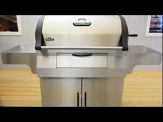M605RBCSS Mirage™ Series Charcoal Grill.  Commercial quality full sized cooking area and an easy loading charcoal door.