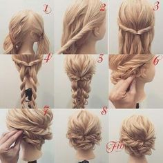 Prom hair – Tutorial Per Capelli Prom Hair Updo, Hair Dos, Up Hairstyles, Wedding Hairstyles, Prom Hair Tutorial, Formal Updo Tutorial, Hair Arrange, Pinterest Hair, Bridesmaid Hair