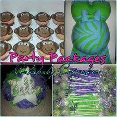 Take advantage of our Party Packages! The top is one of our Baby Bump Cake packages which includes a BBC and 2 Dozen cupcakes(4 flavors). The bottom is one of our ColossalBaby Cupcake packages which include the ColossalBaby Cupcake and 2 dozen cakepops (2 flavors). Free Customization! #cakebabycupcakes #cupcakes #cakepops #BabyShower #Party #Deals #Birthday #Atlanta #custom #delivery