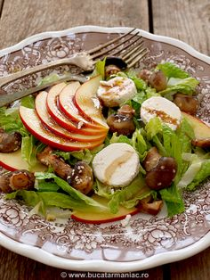 Salata cu branza de capra si cuperci ~ bucatar maniac