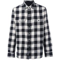 Rag & Bone checked flanner shirt ($240) ❤ liked on Polyvore featuring men's fashion, men's clothing, men's shirts, men's casual shirts, black, mens checked shirts, mens patterned shirts, mens print shirts and mens checkered shirts