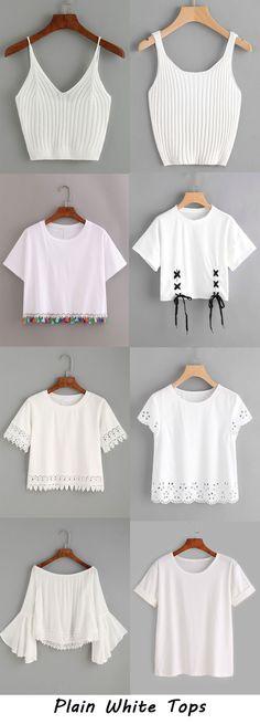Blusinhas m manga Girls Fashion Clothes, Teen Fashion Outfits, Trendy Fashion, Girl Fashion, Girl Outfits, Fashion Dresses, Crop Top Outfits, Cute Casual Outfits, Stylish Outfits