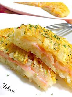 ジャガイモ ハム とろけるチーズのガレット😄✨ Home Recipes, Asian Recipes, Healthy Recipes, Ethnic Recipes, Tasty, Yummy Food, Daily Meals, Carrot Cake, Japanese Food