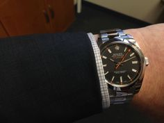 rolex milgauss black and suit - Google Search