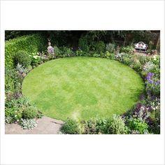 Small Garden With A Circular Lawn!:separator:Small Garden With A Circular Lawn! Front Gardens, Small Backyard Gardens, Small Gardens, Backyard Landscaping, Small Garden Plans, Backyard Designs, Backyard Ideas, Lawn And Garden, Garden Paths