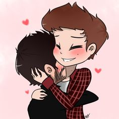"""shnugglemuffin: """"why are neck kisses so frickin' precious???? anyways, *slides this forward* please accept my sterek doodle, senpais """""""