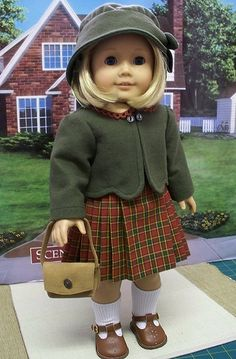 outfit made for American Girl Doll Kit - American Girl Dolls Sewing Doll Clothes, Girl Doll Clothes, Doll Clothes Patterns, Girl Dolls, Ag Dolls, Doll Patterns, Dress Patterns, Kit American Girl Doll, American Doll Clothes