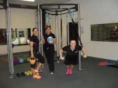 The team at #Fernwood Carindale showing off their new 'Functional Fit' equipment.