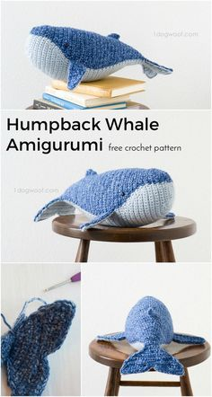 Humpback whale amigurumi with free crochet pattern. Makes a great DIY gift!   http://www.1dogwoof.com