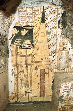 ... Ancient lands ..., Tomb TT335 of the sculptor Nakhtamon. He...