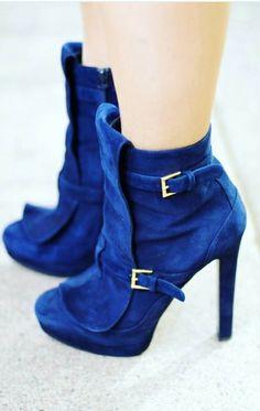 Blue best high heels