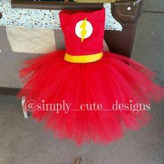 The Flash SUPERHERO TUTU tutu Character Tutus Custome tutus  Simply Cute Designs   Mud n Honey   Live Auctions every weekend