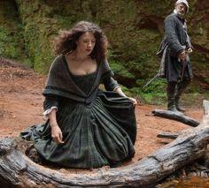 Caitriona Balfe as Claire Randall and Graham McTavish as Dougal MacKenzie in 'Outlander' Episode 6, 'The Garrison Commander'