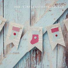 A Simple Christmas Bunting {Christmas DIY Decor} - Tip Junkie