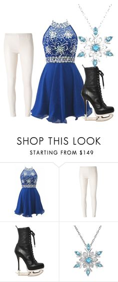 """""""ice skating"""" by c-j-yfrogs ❤ liked on Polyvore featuring MM6 Maison Margiela, Dsquared2 and Amanda Rose Collection"""