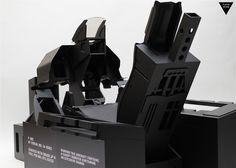 F-16 GHOST - black cockpit simulator.