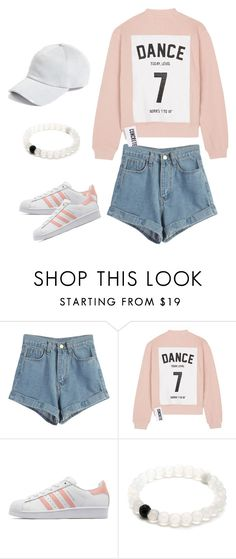 """""""Pink cream ~ dance 7"""" by wenxz ❤ liked on Polyvore featuring WithChic, Studio Concrete, adidas Originals and rag & bone"""