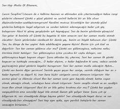 Sana bunları tek tek anlatmak istiyorum canım karıcıgım. seni seviyorum Ebru Cemrem.