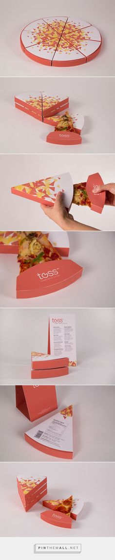 Brandshift: Toss - Gourmet Pizza by the Slice designed by Yinan Wang. Who doesn't like great pizza packaging PD
