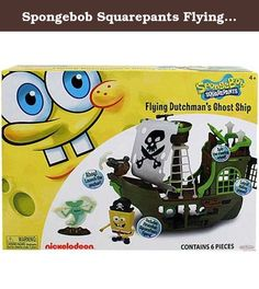 Spongebob Squarepants Flying Dutchman's Ghost Ship. Take to the high seas with PirateBob Squarepants in the Flying Dutchmanâ€TMs Ghost Ship. This playset includes ghost ship playset, pirate SpongeBob, Flying Dutchman, spy glass, pirate hat and anchor. The ghost ship includes a crowâ€TMs nest, pirate brig, haunted steering wheel and a launching anchor. Any SpongeBob fan will love this playset. Contains 6 pieces.