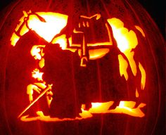 Another Halloween carving for horse lovers.