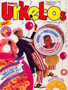 Breakfast cereal image for Urkel-Os cereal called Urkel For President Urkel-Os. Discontinued Food, Steve Urkel, Cereal Killer, Washington Dc Travel, One Hit Wonder, Breakfast Cereal, Breakfast Club, Win A Trip, My Childhood