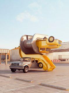 """Tales of auto elasticity"" del artista británico Chris LaBrooy"