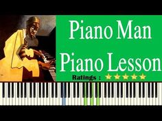 Learn Piano Man On Piano - Easy Piano Man Piano Tutorial Easy Piano Songs, Piano Tutorial, Piano Man, Piano Lessons, 3d Printing, Teacher, App, Learning Piano, Free
