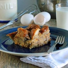 The Stay At Home Chef: Overnight Breakfast! Slow Cooker White Chocolate French Toast Casserole