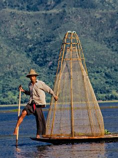 fisherman, Inle Lake, Myanmar