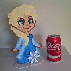Princess Elsa - Frozen perler beads by skoogsparlan