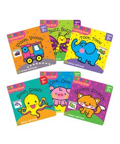 Look at this My First Sticker Coloring Book - Set of Six on #zulily today!