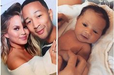 Chrissy Teigen And John Legend's Baby John Legend, Hollywood Celebrities, Celebrity Pictures, First Photo, Breastfeeding, Dads, Singer, Mom, Funny