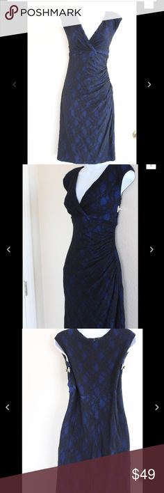 """💟New Listing💟American Living sz 10 Blue Lace B16 American Living Dress  Size 10  Fully Lined  Lace Overlay  Would make a great gift for a loved one or special treat for yourself!  Measurements while laying flat:  Shoulder to Shoulder 18""""  Armpit to Armpit 18""""  Length from Armpit 38 1/2""""  Empire Waist 15 1/2""""  Hips 17"""" american living Dresses"""